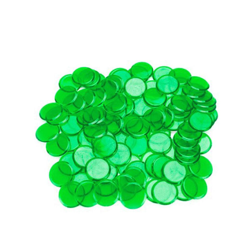 "Plastic Bingo Chips 7/8"" -  100 ct"
