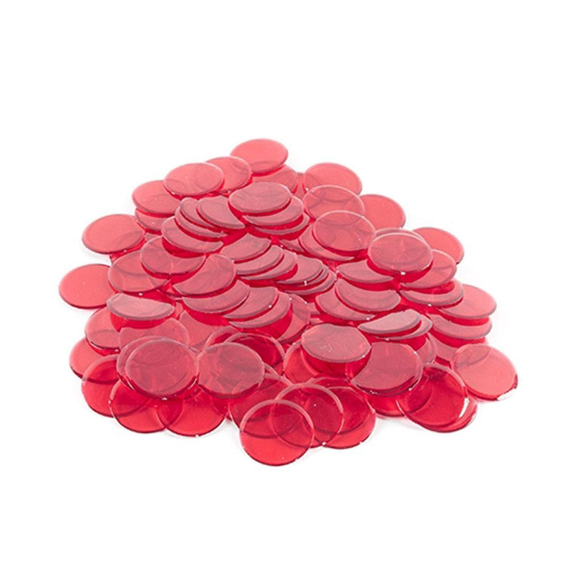"Non-Magnetic Plastic Bingo Chips 3/4"" -  200 ct Assorted Colors"