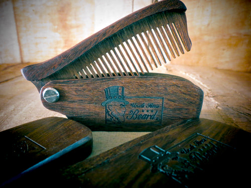Black Sandalwood Folding Beard Comb