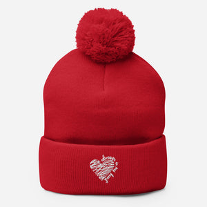 Always in my Heart Pom-Pom Beanie