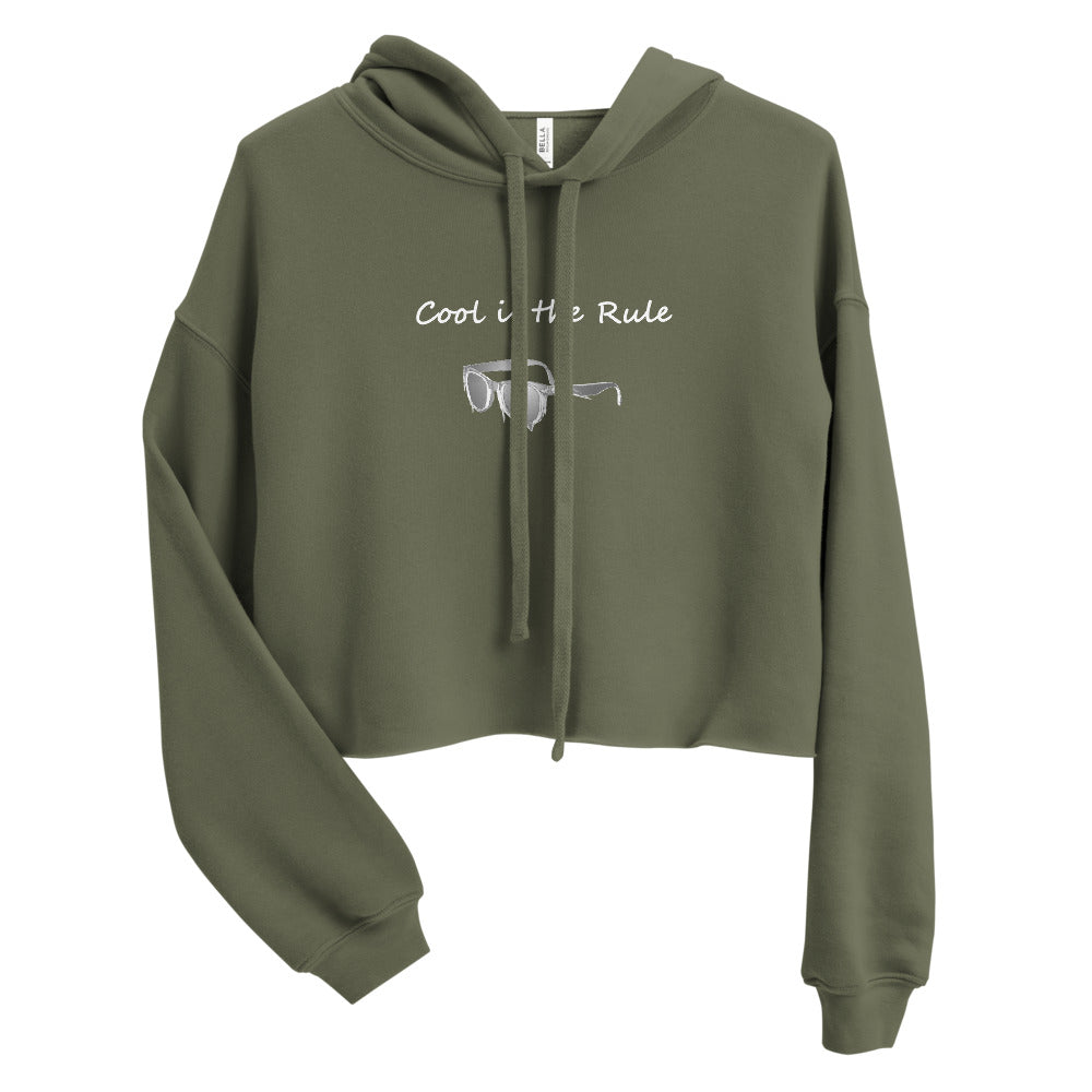 Cool is the rule Crop Hoodie