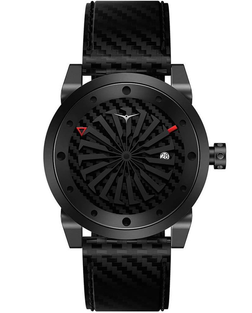 ZINVO Blade Venom Watch In Carbon Fiber Front View