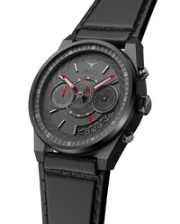 ZINVO Men's Chrono Gunmetal Watch Side View