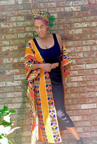 Kente Kaftan Robe
