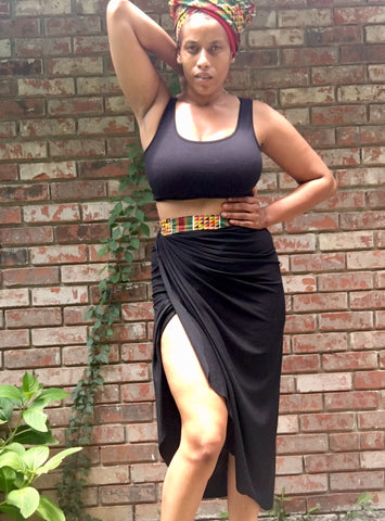Black Kente Wrap