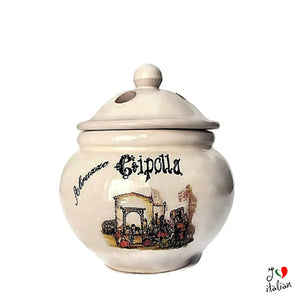 Ceramic jar for onion - Abruzzo Souvenir - a souvenir from Italy