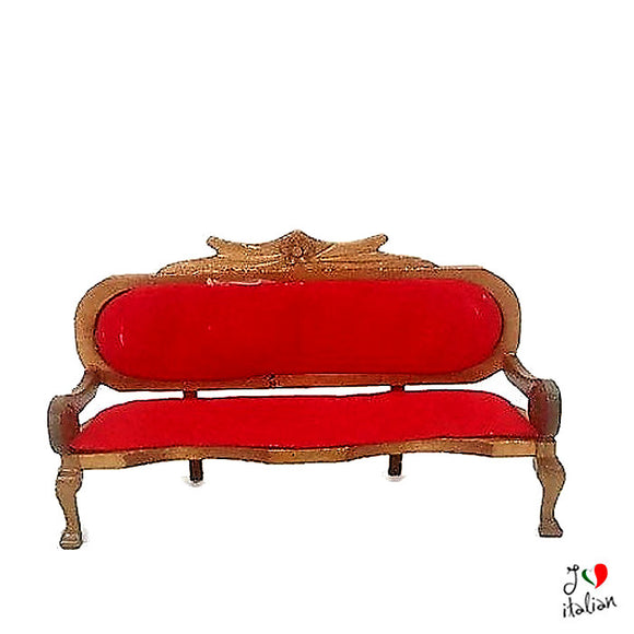 Miniature sofa - doll's house - Red sofa