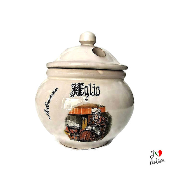 Ceramic jar for garlic - Abruzzo Souvenir - a souvenir from Italy