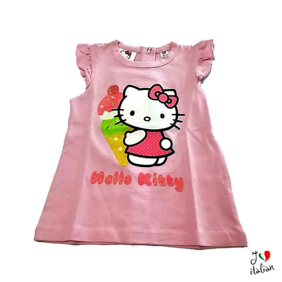 HELLO KITTY baby pink short sleeve t-shirt  - Baby girl