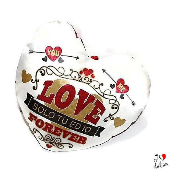Heart cushion you and me love - lovers - Valentine's day