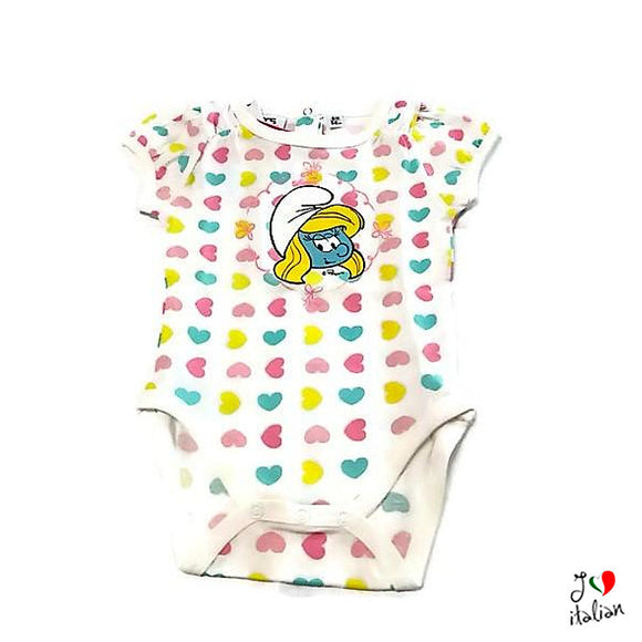 SMURFETTE baby short sleeve body - Baby girl