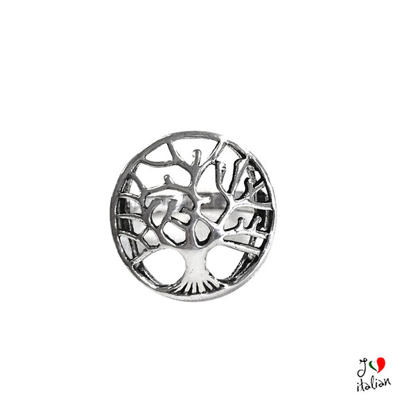 Adjustable metal ring Tree of life - Jewelry