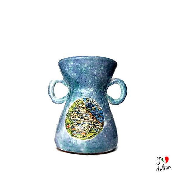 Ceramic pitcher with handles - Abruzzo Souvenir - a souvenir from Italy