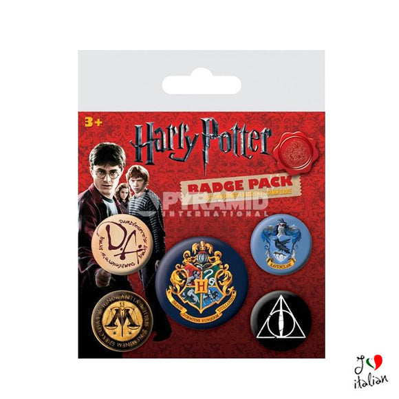 Harry Potter set 5 pins official - Accessories