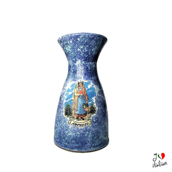 Ceramic pitcher with woman - Abruzzo Souvenir - a souvenir from Italy