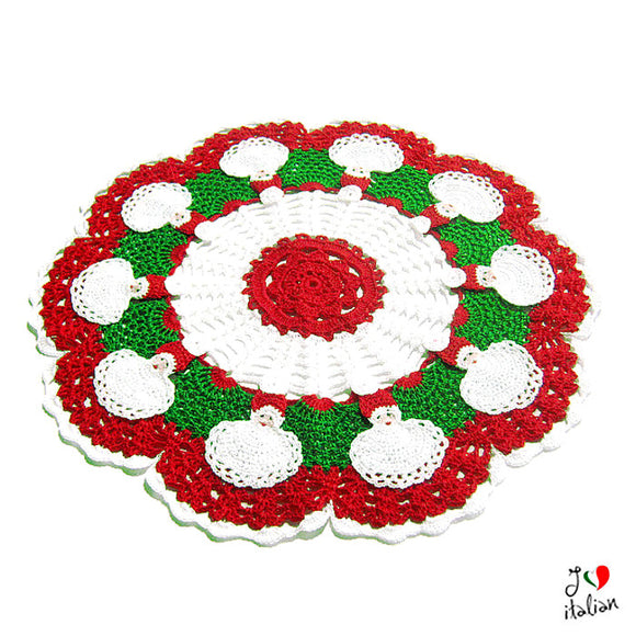 Christmas doily with Santa Claus - Crochet
