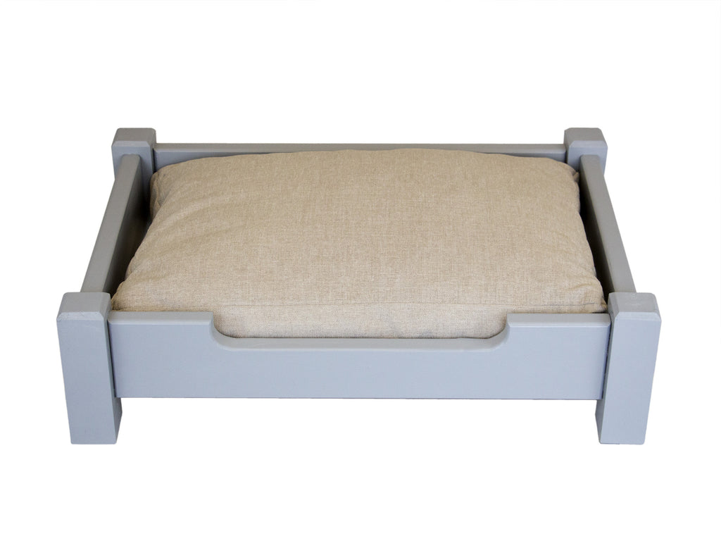 Handmade Wooden Country Dog Bed Small