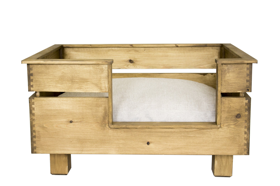 Crate Style Wooden Dog Bed Large