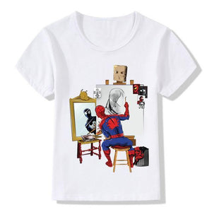 Autoportrait - 3 Ans - T-Shirt Enfant Spiderman T-Shirt
