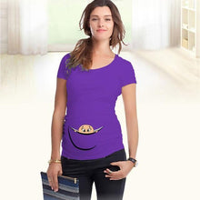 Baby Peeking Out - Violet / L - T-Shirts Bébé Grossesse Maternité New-Arrivals Peek A Boo