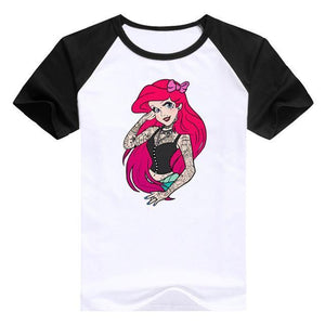 Bad Girls Princesses Disney - Arielle Mn / S - T-Shirts Alice Arielle Bad Girl Blanche Neige Disney