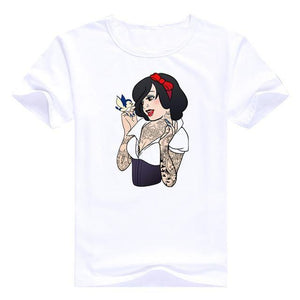 Bad Girls Princesses Disney - Blanche Neige / S - T-Shirts Alice Arielle Bad Girl Blanche Neige Disney
