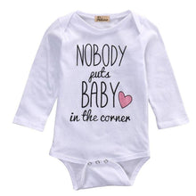 Body Bébé Nobody Puts Baby In The Corner - - Manches Longues Pour Body Baby
