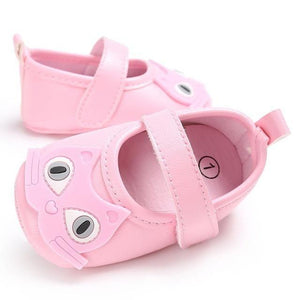 Chaussures Cat Cartoon Baby - Rose / 12-18 Mois - Chat Chaussures Cuir New-Arrivals Premiers Pas