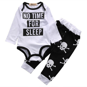 Ensemble No Time For Sleep - - Bébé Body Et Pantalon Ensemble