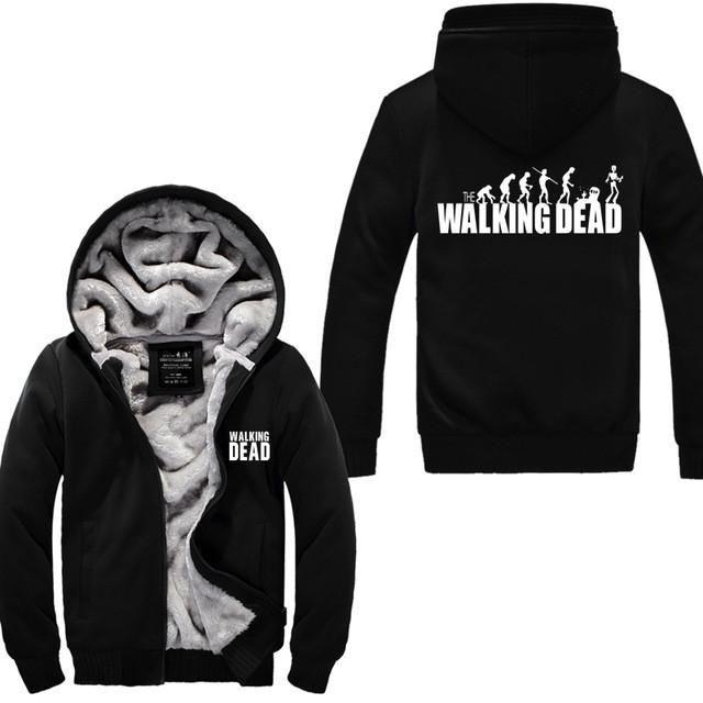 Gilet Doublé Fourrure The Walking Dead - Noir / M - Veste Daryl Dixon Gilet The Walking Dead Grimes Michonne