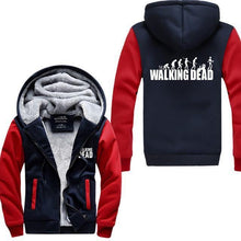 Gilet Doublé Fourrure The Walking Dead - Rouge/bleu Foncé / M - Veste Daryl Dixon Gilet The Walking Dead Grimes Michonne