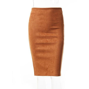 Jupe Crayon - Orange / M - Femme Sexy New-Arrivals