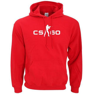Pull À Capuche Counter Strike Cs Go - Rouge / S - Sweat Counter Strike Gamer Jeux Vidéo