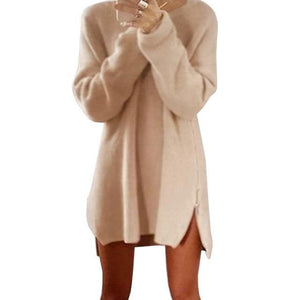 Pullover Long - Beige / S - Pull Femme Pull Sweat