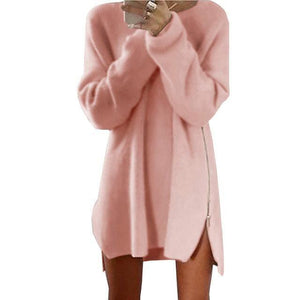 Pullover Long - Rose / S - Pull Femme Pull Sweat