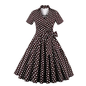 Robe Style 1950S 60S Rockabilly - Noir / S - Robe Des Années 50 Rock N Roll
