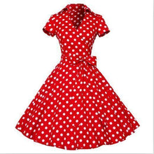 Robe Style 1950S 60S Rockabilly - Rouge / S - Robe Des Années 50 Rock N Roll