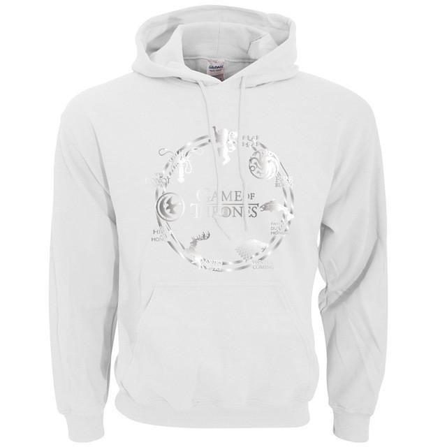 Sweatshirt À Capuche Game Of Thrones - Blanc / L - Sweat Arya Daenerys John Snow Sansa