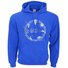 Sweatshirt À Capuche Game Of Thrones - Bleu / S - Sweat Arya Daenerys John Snow Sansa