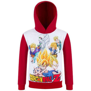 Sweatshirt À Capuche Pour Enfant Dragon Ball Z - - Sweat Bulma Chichi Dbz Dragon Son Goku