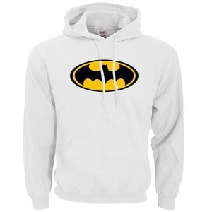 Sweatshirt Batman - Blanc / S - Sweat Batcave Batman Batmobile Batsignal Bruce