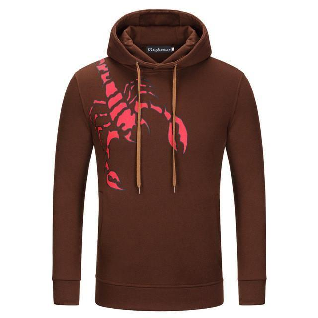 Sweatshirt Scorpion - Marron / M - Sweat Ado