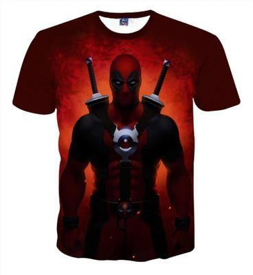 T-Shirt Deadpool - Sky Blue / 10 Ans - T-Shirts Super Héros Wolverine Xmen