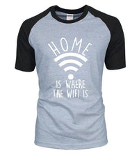 T-Shirt Home Is Where The Wifi - Blanc / S - T-Shirts Drôle Home Marrant Message