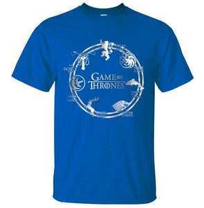 T-Shirt Pour Homme Game Of Thrones - Bleu / S - T-Shirts Cersei Daenerys John Snow Lannister