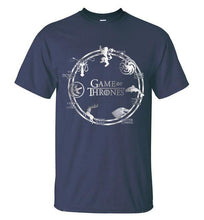 T-Shirt Pour Homme Game Of Thrones - Marine / S - T-Shirts Cersei Daenerys John Snow Lannister