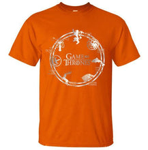T-Shirt Pour Homme Game Of Thrones - Orange / S - T-Shirts Cersei Daenerys John Snow Lannister