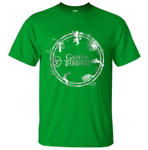 T-Shirt Pour Homme Game Of Thrones - Vert / S - T-Shirts Cersei Daenerys John Snow Lannister