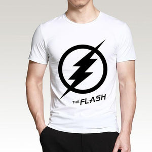 T-Shirt Pour Homme The Flash - Blanc / S - T-Shirts Arrow Barry Allen Comics Dc Flash