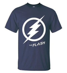 T-Shirt Pour Homme The Flash - Bleu Foncé 2 / S - T-Shirts Arrow Barry Allen Comics Dc Flash